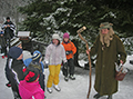 Zima vDolním Dvoře– občas příjde iKrakonoš